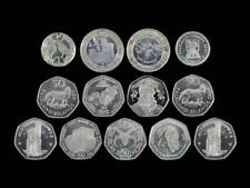 More details for territories uncirculated coins fifty pence, one pound, two pounds, 50p, £1, £2