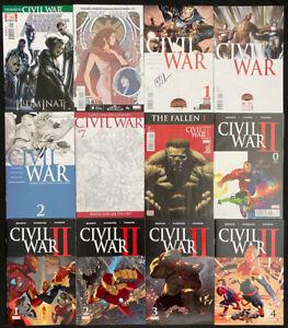 Marvel Comics Civil War series themed comic lot of 12 Avg. NM; muiltiple series