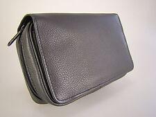 Pfeifentasche Ambiente Leder Schwarz für bis zu 3 Pfeifen und Zubehör