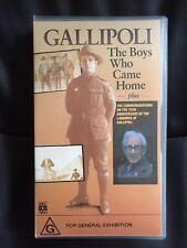 GALLIPOLI ~ THE BOYS WHO CAME HOME ~ RARE AUSTRALIAN VHS VIDEO