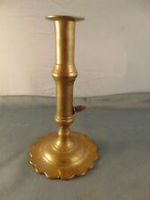 """Brass tapered candle stick holder 8"""" adjustable height elegant table set vtg art"""