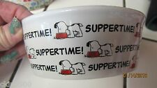 "SNOOPY DOG DISH DOG 4.5"" OR CAT PET WATER CERAMIC FOOD BOWL DISH CUTE NEW"