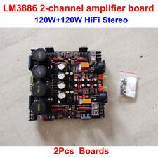 LM3886 Fully Balanced Power Amplifier Board 120W+120W HiFi Stereo 2-channel