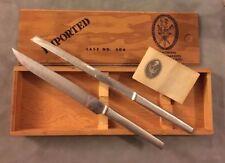 Vintage Austrian Swordmakers Arthur Salm Two Carving Knives  Case 306