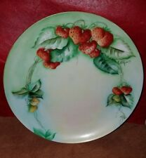 Beautiful Antique Limoges France Hand Painted Strawberry Plate Signed