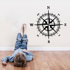Compass Wall Decal sticker vinyl decor mural bedroom kitchen art map travel