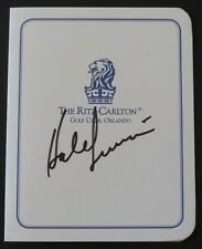 HALE IRWIN Autographed Ritz-Carlton Golf Club Scorecard-Father/Son Tourney