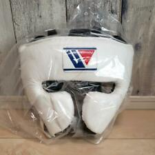 WINNING Boxing Head Gear Training Face Guard FG-2900 White Large Size Leather