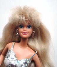 VINTAGE Barbie Sparkle Eyes 1991 #2482 Original Kleid Ohrringe Super Star