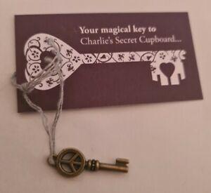 Rare Charlie Bear Secret Cupboard Key Peace Shaped