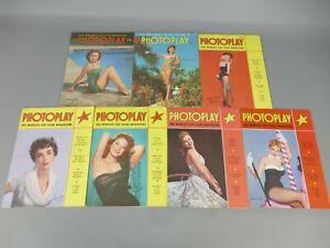 7 Vintage Photoplay Film Magazines - June to December 1953b    |6