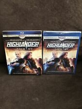 Highlander 2-Film Set Blu-ray 2011 25th Anniversary + Slip Cover Oop Sealed New