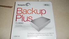 NEW Seagate Backup Plus 2TB Desktop External Hard Drive for Mac