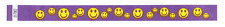 Purple Happy Faces TYVEK Wristbands 500 in a pack