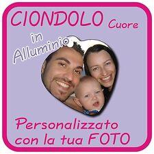 CIONDOLO CUORE in Alluminio personalizzato con la tua FOTO!!!!!!!!!!