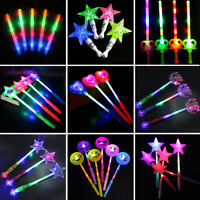 1Pc LED Flashing Light Star Heart Emoji Glow Stick Wand Party Concert Favors Toy