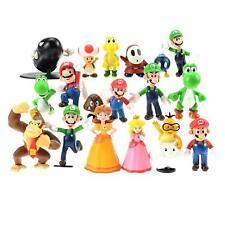 3-7 cm 18 piece Super Mario Bros Collection Mini Action Figures Kids Toys Games