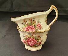 James Kent Longton 'La Rosa' vintage sugar bowl and creamer