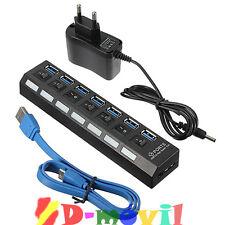 LADRON MULTIPUERTO HUB 7 SIETE PUERTOS USB 3.0 SPLITTER MULTIPLICADOR CABLE