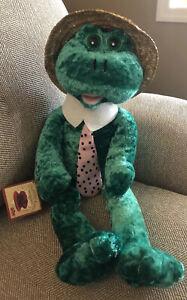 PBC 1967 Chantilly Lane Musicals Louie Frog Plush Sings What A Wonderful World