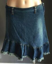 Fab Retro LONSDALE Blue Denim Asymmetrical Hem Skirt 12