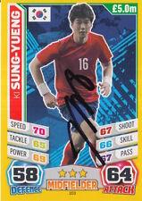 KI SUNG YUENG HAND SIGNED SOUTH KOREA WORLD CUP MATCH ATTAX CARD 2014 1.