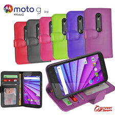 Wallet Flip Leather Case Cover For  Motorola Moto G 3 rd + Screen Guard