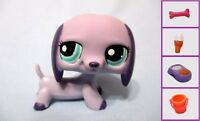 Littlest Pet Shop #1367 Purple Dachshund Dog LPS + 1 FREE Access. 100% Authentic