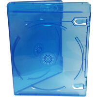 10x Genuine River Blue Double Slim Blu-ray Case 11mm Spine - Cover Face on Face