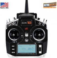 Carbon Fiber Spektrum DX18 Transmitter Skin Wrap Decal Controller Radio