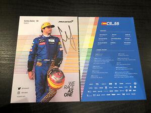 Carlos Sainz McLaren F1 Hand Signed Driver Card