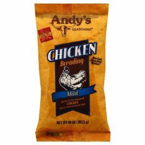 Andys Mild Chicken Breading Seasoning Bake / Broil / Fry 3-10oz Bags