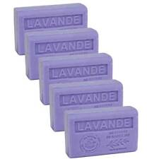 5 x 125g Bars - Lavender Scented French Soap with Organic Shea Butter