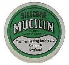 Fly Fishing: SILICONE MUCILIN SOLID FLOATANT (GREEN TUB) LINE GREASE / FLIES ETC