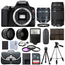 Canon EOS SL3 SLR Camera + 4 Lens Kit 18-55 STM + 75-300mm + 16GB Top Value Kit