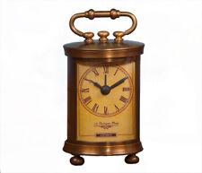 Antique Style Bombay Brass Mantel Desk Clock,3'' x 5''H.