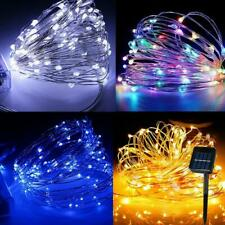 Solar LED String Light Waterproof Copper Wire Outdoor Garden Party Fairy Lamp