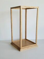 Solid Oak Wood Handmade Display Case for Doll 10 Length x 10 Width x 21 tall