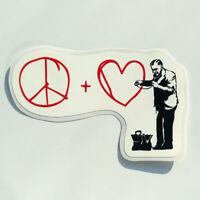 Banksy Sticker  Peace Heart Doctor Vinyl Decal Street Art Graffiti Car Bike Surf