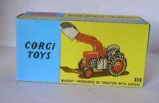 Repro Box Corgi Nr. 53 Massey Ferguson with Shovel