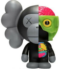 """BLACK 8"""" KAWS X BAPE DISSECTED BABY MILO PROTOTYPE - FAST SHIPPING"""