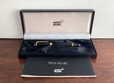 More details for montblanc boheme large black & gold fountain pen. 14k m nib. box & papers.
