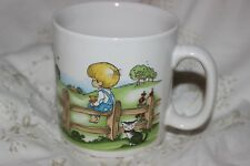 Cup Mug Tasse à café Blonde Boy on Fence Cat 1969 Joan Walsh Anglund