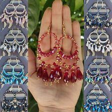 Arracadas de cristal chapa de 14k lote / 20 pares Joyeria Artesanal Méxicana.