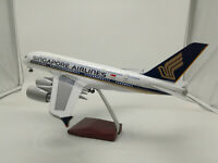"LED Light 45cm A380 Singapore Airlines Airbus Aeroplane Plane Metal Model 18"""