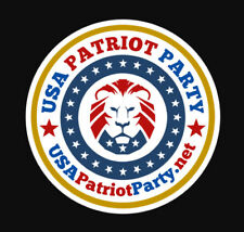 USA Patriot Party Political Sticker We are LIONS not GOP Elephant or Dem Donkey