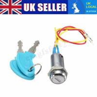 2 Wire 2 Keys Ignition Key Switch Lock Go Kart Scooter Electric Bikes Pocket UK
