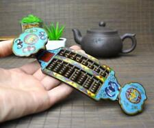 BEAUTIFUL OLD CHINESE CLOISONNE HANDMADE ABACUS STATUE