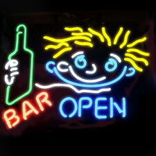 Neon Signs Cocktail BAR OPEN Beer Bar Pub Party Homeroom Recreation Decor 19x15