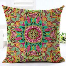 Bohemian Hippie Colourful Geometric Square Cushion Pillow Cover